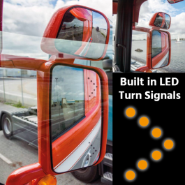 Mirrors with Built in LED Turn Signals suitable for Scania Vehicles