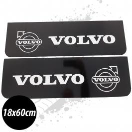 Volvo Black/White Front Mudflaps (Pair)