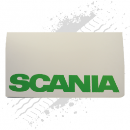 Scania White/Green Mudflaps (Pair)