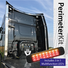 Perimeter Kit to suit Scania R Cab Highline (Next Gen) complete with 3 in 1 Multifunction LED's