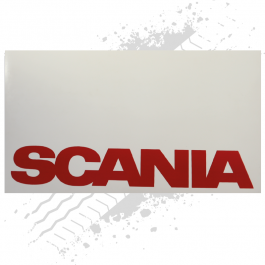 Scania White/Red Mudflaps (Pair)