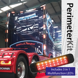 Perimeter Kit to suit Scania S Cab Highline (Next Gen) complete with 3 in 1 Multifunction LED's