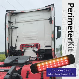 Perimeter Kit to suit Scania S Cab Standard (Next Gen) complete with 3 in 1 Multifunction LED's