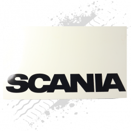 Scania White/Black Mudflaps (Pair)