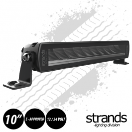 "PRE ORDER - JUNE 2020 DELIVERY Strands SIBERIA Single Row LED Bar 10"" 12/24 Volt E-Approved"