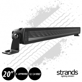 "PRE ORDER - JUNE 2020 DELIVERY Strands SIBERIA Single Row LED Bar 20"" 12/24 Volt E-Approved"
