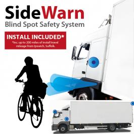 SideWarn, Total Blind Spot Detection System, 4 Cameras and Sensor Scanning. Inc. Install