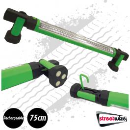 60 LED Portable LED Bar / Work Light, Rechargeable, Magnetic - 75cm long