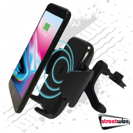 Wireless Phone Charger Air Vent Mount - QI Wireless Technology