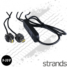 Strands Strobe Kit - Amber LED Light 9-30 Voltage DC