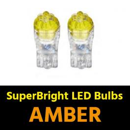 Amber T10 5w LED Bulbs (Pair) 24v for Trucks