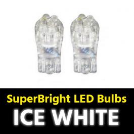 Ice White T10 5w LED Bulbs (Pair) 24v for Trucks