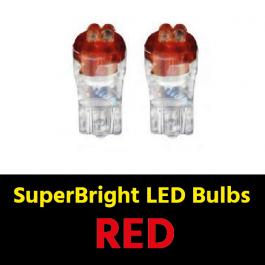 Red T10 5w LED Bulbs (Pair) 24v for Trucks