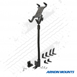 "Robust Seat Rail or Floor Mount, Tablet Mount to suit devices 7"" to 18.4"" wide - Arkon Mounts."