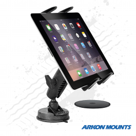 "Heavy Duty Sticky Suction Screen / Dash Tablet Mount to suit devices 7"" to 18.4"" wide - Arkon Mounts"