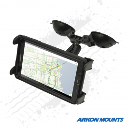 "Double Windscreen Suction Tablet Mount to suit devices 7"" to 18.4"" wide - Arkon Mounts."
