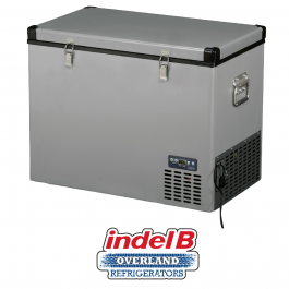 Indel B Heavy Duty Steel 97 Litre Portable Refrigerator Dual Voltage TB100STEEL