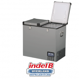 Indel B Heavy Duty Steel 107 Litre Portable Double Door Refrigerator Dual Voltage - TB118DDSTEEL