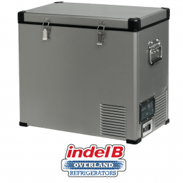 Indel B Heavy Duty Steel 60 Litre Portable Refrigerator Dual Voltage TB60STEEL