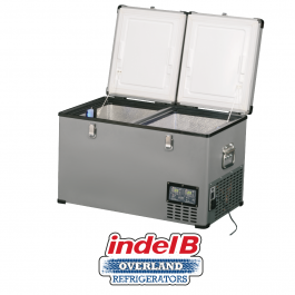 Indel B Heavy Duty Steel 60 Litre Portable Double Door Refrigerator Dual Voltage - TB65DDSTEEL