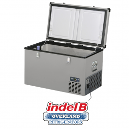 Indel B Heavy Duty Steel 71 Litre Portable Refrigerator Dual Voltage TB74STEEL