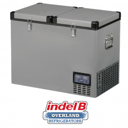 Indel B Heavy Duty Steel 83 Litre Portable Double Door Refrigerator Dual Voltage - TB92DDSTEEL