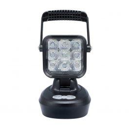 SWEDSTUFF Rechargeable 18 Watt Super Bright Portable LED Work Light (Plus Amber Warning Light) With Magnet Base.