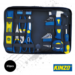 Kinzo 33pc Handy Tool Kit in Zip up Pouch