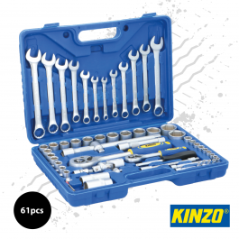 Kinzo 61pc Spanner and Socket Set in Hard Case