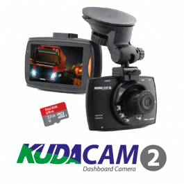 KudaCam 2 - Full HD DashCam, 1080P HD - FREE 32GB Micro SD Card!
