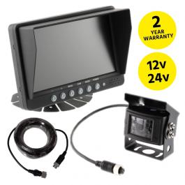"""Reversing Camera Kit, 7"""" Screen, Heavy Duty External Camera, 12v / 24v"""