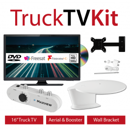 In Cab LED Television Kit. TV/Aerial/Bracket. Perfect for Trucks, Vans, Coaches and Motorhomes.