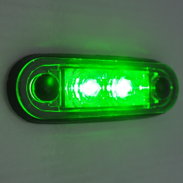 Ultra LED Side Marker Bar And Body Gasket Included - GREEN