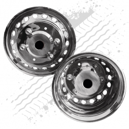 """Set of 4 - 16"""" Wheel Trims to Suit Iveco Daily (2002 onwards) 205mm PCD (round holes)."""