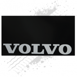 Suitable for Volvo Black/White Mudflaps (Pair)