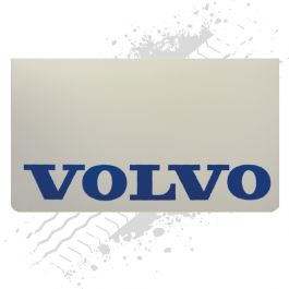 Suitable for Volvo White/Blue Mudflaps (Pair)