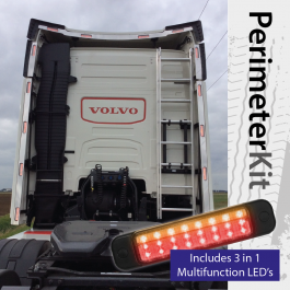 Perimeter Kit to suit Volvo FH 4 Globetrotter Cab complete with 3 in 1 Multifunction LED's