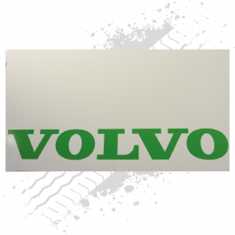 Suitable for Volvo White/Green Mudflaps (Pair)