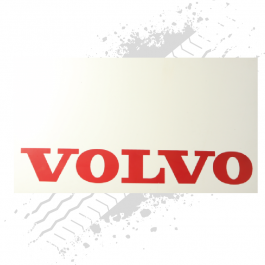 Suitable for Volvo White/Red Mudflaps (Pair)
