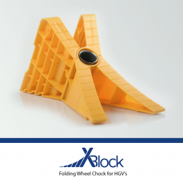 X-Block Folding Wheel Chock for HGV's - TUV Certified and DIN76051 Approved