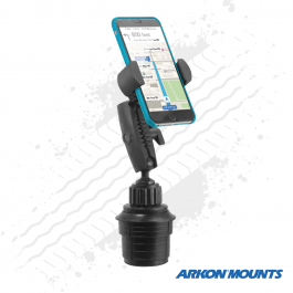 "XL Cup Holder Phone and Midsize Tablet mount to suit devices up to 5"" wide, 3.5"" cup holder - Arkon Mounts."