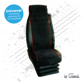 Universal X Type Truck Seat Cover, Black / Red, Hard Wearing (Single)