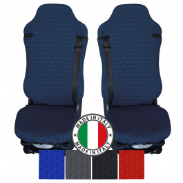 Pair Of The Best Professional Premium Universal Quilted Cotton Turbo X-Type Seat Covers - Choice Of Colours