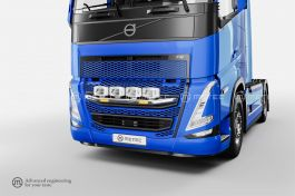 Volvo FH5 Grill Bar with LED Strobes (Pre-Wired for 4 Spotlights)