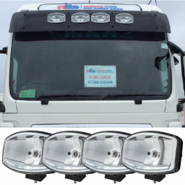 DEAL PACK! MAN TGA/TGX XLX Sun Visor Includes 4 Oval Spotlights!