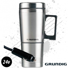 Grundig 24v. Heated Travel Mug. Thermal Coffee / Soup Flask.