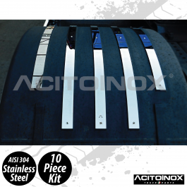 Iveco S-Way Rear Top Mudguard Application In Stainless Steel (AISI 304)