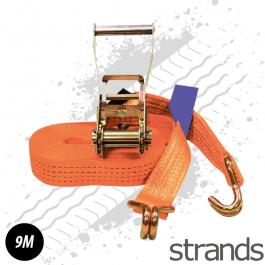 9m Ratchet Strap - 5 Ton - Bright Orange