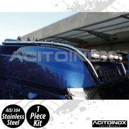 Iveco S-Way 60mm Extra Long Light Bar In Stainless Steel (AISI 304)