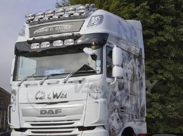 DAF Sun Visors, Truck Sunvisors, Van Sunvisors, Made from High Quality Acrylic.